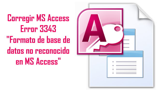 MS Access Error 3343