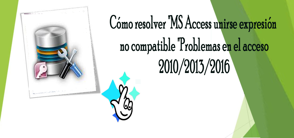 MS Access unirse expresión no compatible